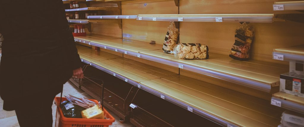Empty Shelves During COVID